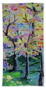 Trees On Hideaway Ct Beach Towel