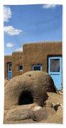 Tres Casitas Taos Pueblo Beach Towel