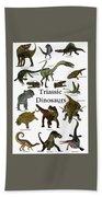 Triassic Dinosaurs Beach Towel