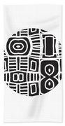 Tribal Ball- Art By Linda Woods Beach Towel