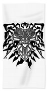 Tribal Lion Alpha Beach Towel