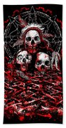 Tribal Massacre  Beach Towel