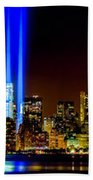 Tribute In Light From Bayonne Beach Towel