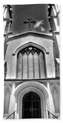 Trinity Episcopal Cathedral Black And White Beach Towel