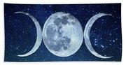 Triple Moon Milkyway Beach Towel