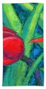 Triple Tease Tulips Beach Towel