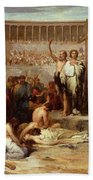 Triumph Of Faith    Christian Martyrs In The Time Of Nero Beach Towel