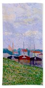 Trois P Niches Amarr Es Aux Abords D Une Ville Industrielle 1886 Beach Towel