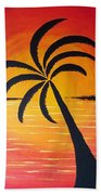Tropic Of Palms Beach Towel