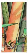 Tropical Bamboo Beach Towel