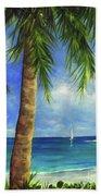 Tropical Beach One Beach Towel