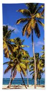 Palms On The Beach Beach Towel