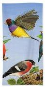 Tropical Birds Beach Towel