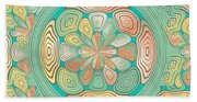 Tropical Color Abstract Beach Towel