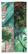 Tropical Dance Square By Madart Beach Towel