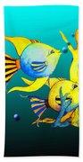 Tropical Fish Fun Beach Towel