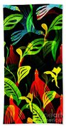 Tropical Flock Beach Towel