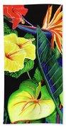 Tropical Flower Arrangement #251 Beach Towel