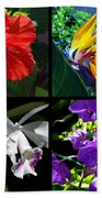 Tropical Flowers Multiples Beach Towel