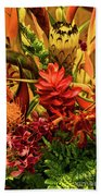 Tropical Flowers Beach Towel