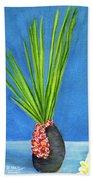 Tropical Flowers Still Life #218 Beach Sheet