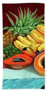 Tropical  Fruits Beach Towel