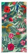 Tropical Fun Time  Beach Towel