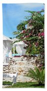 Tropical Garden Beach Towel