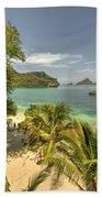 Tropical Harbour Beach Towel