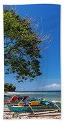 Tropical Island Panorama Paradise Beach Towel