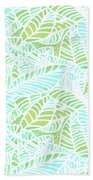 Tropical Lagoon Leaves Beach Towel