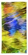 Tropical Mosaic Abstract Art Beach Towel