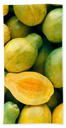 Tropical Papayas Beach Towel