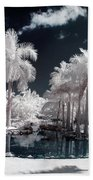 Tropical Paradise Infrared Beach Towel
