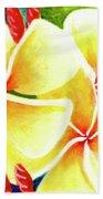 Tropical Plumeria Flowers #226 Beach Sheet