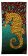 Tropical Seahorses Beach Towel