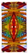 Tropical Stained Glass Beach Towel