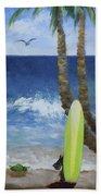 Tropical Surfboard Beach Towel
