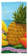 Tropical Trinity Beach Towel