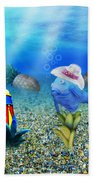 Tropical Vacation Under The Sea Beach Towel