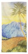 Tropical Vintage Hawaii Beach Towel