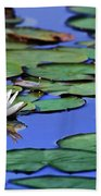 Tropical Water Lily Beach Towel