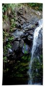 Tropical Waterfall Beach Towel