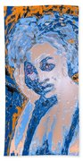 Troubled Woman Beach Towel