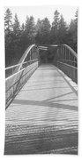 Trowbridge Falls Bridge Bw Beach Towel