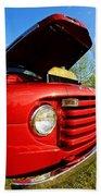 Truck Headlight Beach Towel