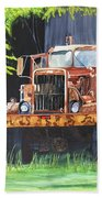 Truck Rusted Beach Towel