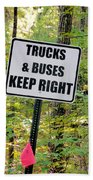 Trucks And Buses Keep Right Beach Towel