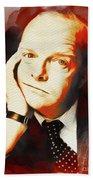 Truman Capote, Literary Legend Beach Towel