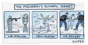 Trump Olympic Games Beach Sheet
